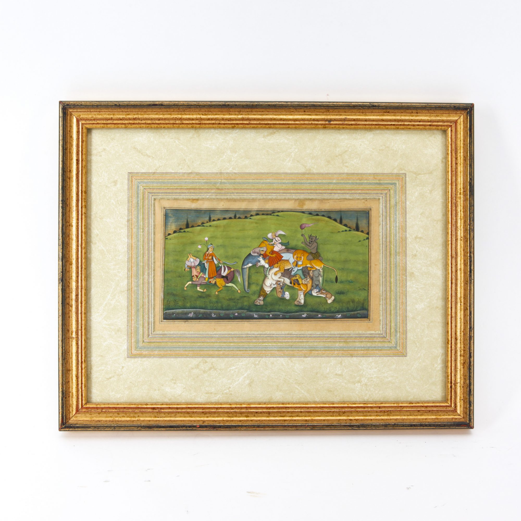 17TH CENTURY MUGHAL PERIOD MINIATURE PAINTING, INDIA