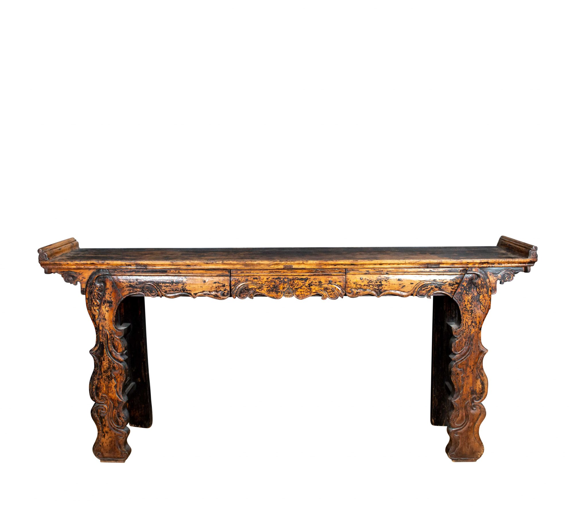 QING DYNASTY NORTHERN CHINESE ALTAR TABLE, SHANXI PROVINCE
